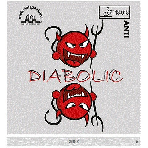 Great Price! Der Materialspezialist - Diabolic Anti-Spin Rubber - Black 1.3mm