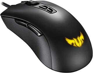ASUS TUF Gaming M3 ergonomic wired RGB gaming mouse with 7000-dpi sensor, lightweight build, durable coating, heavy-duty s...