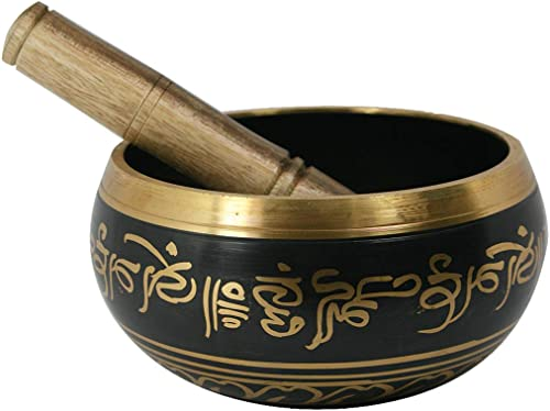 Reiki Crystal Products Singing Bowl| Tibetan Buddhist Prayer Instrument with Wooden Stick | Meditation Bowl | Music ...