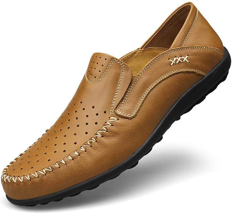 Qzny Freizeitschuhe Leder Herrenschuhe Soft Schuhe Hohle Atmungsaktive Gemütliche Weiche Groe Schuhe Abnutzungs Bestndig