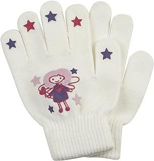 METZUYAN Childrens Boys Gripper Gloves Plain Black Stretchy Warm Winter Acrylic
