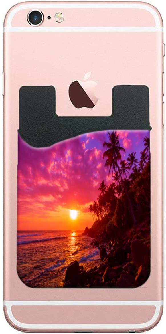 ZXZNC Card Holder for Back Challenge the lowest price of Tropical Brand Cheap Sale Venue Sunset T Beach Phone Palm