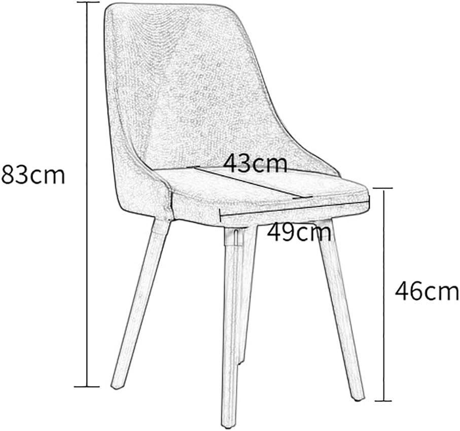 Min Chaise - Chaise Simple rétro en Plastique, Chaise de Salle à Manger, Station spéciale, Chaise Longue de Bureau (Taille 49X43X83cm) Chaise de Salle à Manger (Color : A) E