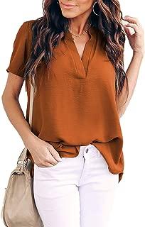 short sleeve blouses womens