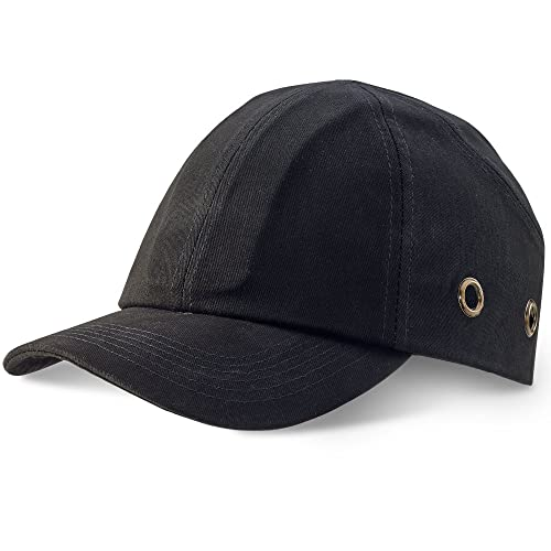 f159f5d6aea Safety Baseball Cap Bump Hard Hat Black. Lightweight head protection -  Comes With TCH Anti