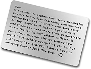Fathers Day Gifts For Dad From Daughter, Son, Kids Dad Father Metal Wallet Insert Card Birthday Gifts for Dad Papa Husband...