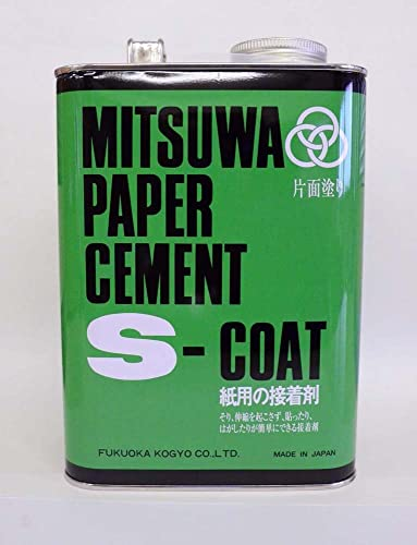 los últimos modelos Mitsuwa paper cement cement cement S Court (one side coated) 4L cans 3800cc [HTRC3] (japan import)  salida de fábrica