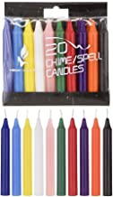 """Mega Candles 20 pcs Unscented Assorted Colors Mini Taper Candle 