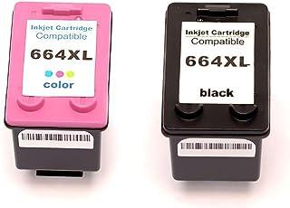 Kit Cartucho de Tinta Compatível HP 664xl 664 Preto 14ml + Colorido 12ml / DeskJet Ik Advantage 1115 2136 3636 3776 4676