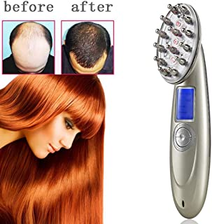Hair Growth Laser Comb, Professional Photon Therapy Scalp Massage Hairbrush, Anti Hair Loss Treatment Regrowth Tools with Goggles