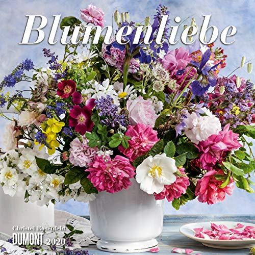 Blumenliebe 2020 - Broschürenkalender - Mit Gedichten - Format 30 x 30 cm