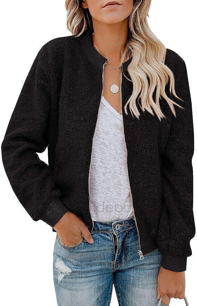 Rvshilfy Women Fleece Fuzzy shipfree Jacket Animer and price revision Sleeve Long Faux Casua Sherpa