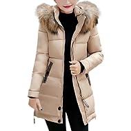 Vovotrade Women Slim Hooded Down Padded Long Winter Warm Parka Outerwear Ladies Zipper Jacket...