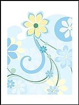 Tegelstickers tegelstickers voor badkamer en keuken - keukentegels voor afzonderlijke tegels 13,5x19 cm - MF779 - bloemen ...