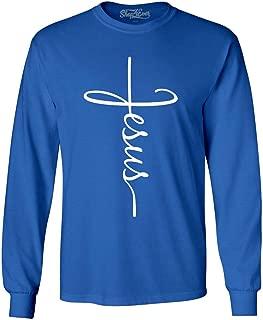 Shop4Ever Jesus Cross Long Sleeve Shirt
