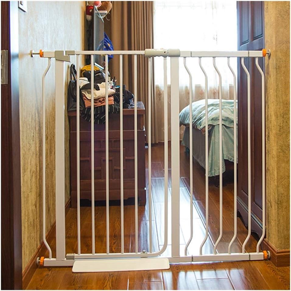 Puerta De Beb/é Puertas De Beb/é Extensibles For Escaleras Valla Interior Aislamiento Anti-perro Valla De Barandilla Valla De Perro Peque/ño Grande Cierre Autom/ático Color : High78CM , Size : 61-71CM