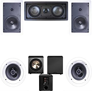 Klipsch R-1650-W In Wall #2 5.1 Home Theater System(R-2502-W)-FREE PL-200
