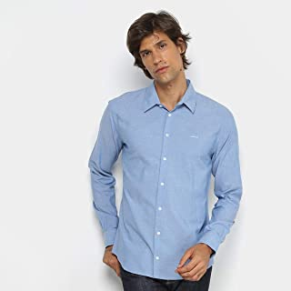 f1022d512 Camisa Colcci Manga Longa Slim Mesclada Masculina