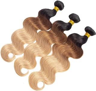 10A Ombre Brazilian Body Wave Human Hair 3 Bundles (T1B/30/27,18