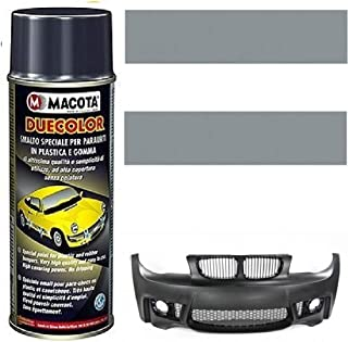 MACOTA DUECOLOR Dunkelgrau matt Spraydose Acryllack Spezialfarbe Stoßstange Seitenleisten Auto Tuning Kunststoff Profi Gummi 400 ml