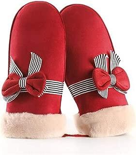 SDHEIJKY Mittens For Women Suede Gloves Sheepskin Lady Winter Gloves