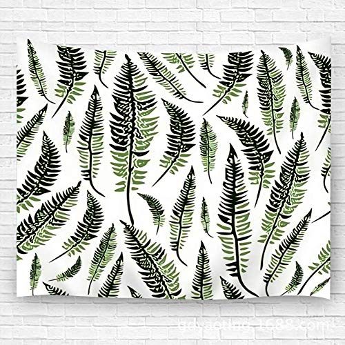 Tapestry Decor Green Fern Leaves Beach Towel Blanket Carpet 51.2'(H) X59.1(W) 60x51in(130x150cm)