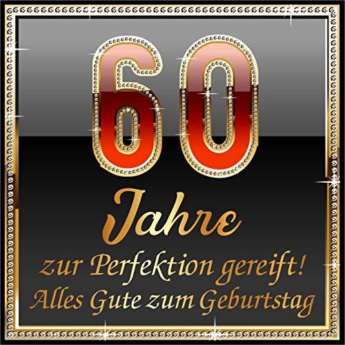 RAHMENLOS 5 St. Aufkleber Original Design: Selbstklebendes Flaschen-Etikett zum 60. Geburtstag: 60 Jahre zur Perfektion gereift!
