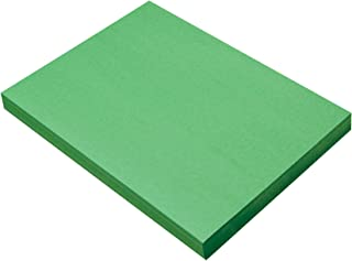 SunWorks Heavyweight Construction Paper, 9 x 12 Inches, Holiday Green, Pack of 100