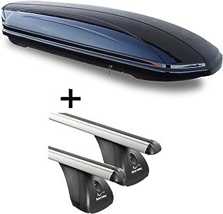 VDPMAA320 Coffre de Toit verrouillable Noir Mat 5 Portes 2011-2017 Barres de Toit en Aluminium RB003 Compatible avec BMW X3 F25