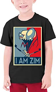 LUCY FOSTER Youth Junior Particular Invader Zim Gir Short Sleeve T-Shirts Black