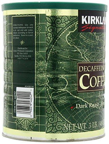 Kirkland Signature 100% Colombian Dark Roast Decaffeinated Ground Coffee