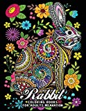 Rabbit Coloring Books for Adults Relaxation: Fun and Beautiful Animals and Flowers Coloring Pages for Stress Relieving Design