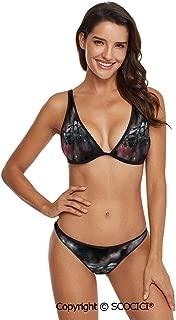 SCOCICI Comfortable and Quick Dry Bikini Blazon Design Festive Mardi Gras Inscr