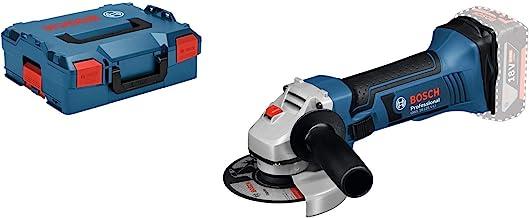 Bosch Professional GWS 18-125 V-LI Amoladora angular, 10.000 rpm, diámetro disco 125 mm, sin batería, en L-BOXX, 18 V, Negro/Azul, 12.7 cm