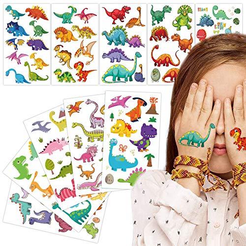 Gxhong 10 Blätter Temporäre Tattoos für Kinder, Wasserdichte Tattoos Kinder Set, Mit eine Reihe verschiedener Designs Dinosaurier, Verwendet für Kindergeburtstagsgeschenke Partys Weihnachten