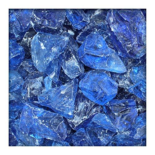 Kieskönig Glasbrocken Glasbruch Glassteine Glas Gabione 60-120 mm Azure-Blau 480 kg (Big Bag)