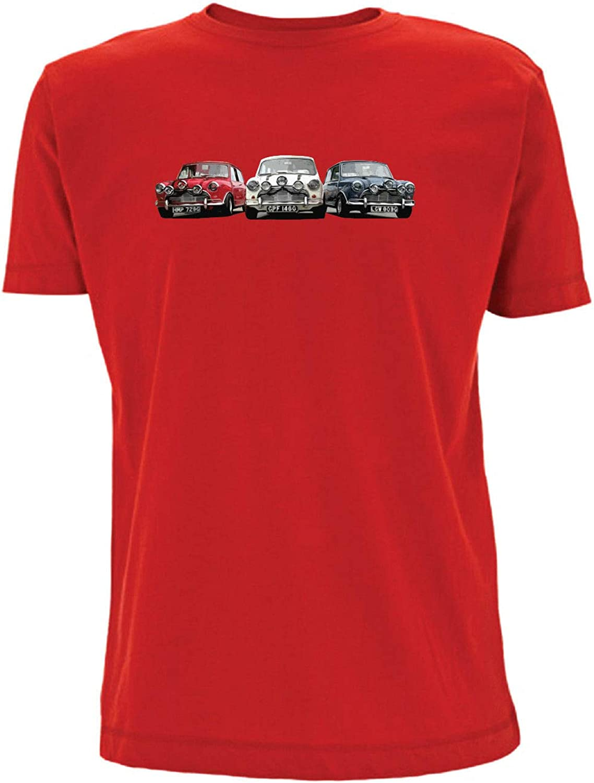 Time 4 Tee Mini camiseta de trabajo italiano Cooper S Best of Britain British Car Retro cl/ásico rojo blanco azul mini