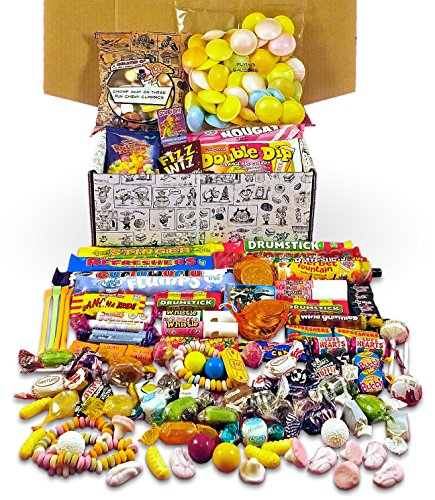 Retro Sweets Hamper: Mega Gift Box Jam Packed With Over 60 of the UK's Best Old School Sweets.