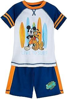 Disney Mickey Mouse and Pluto ''Surf'' Shorts Sleep Set For Boys