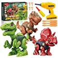 Take Apart Dinosaur Toys for Kids, Building Toys Set Construction Engineering Play Tool with Electric Drill, STEM Learning Toys for 3-7 Year Old Boys and Girls Birthday Gift by SHANTOU CITY KONGLONGDAO TOYS