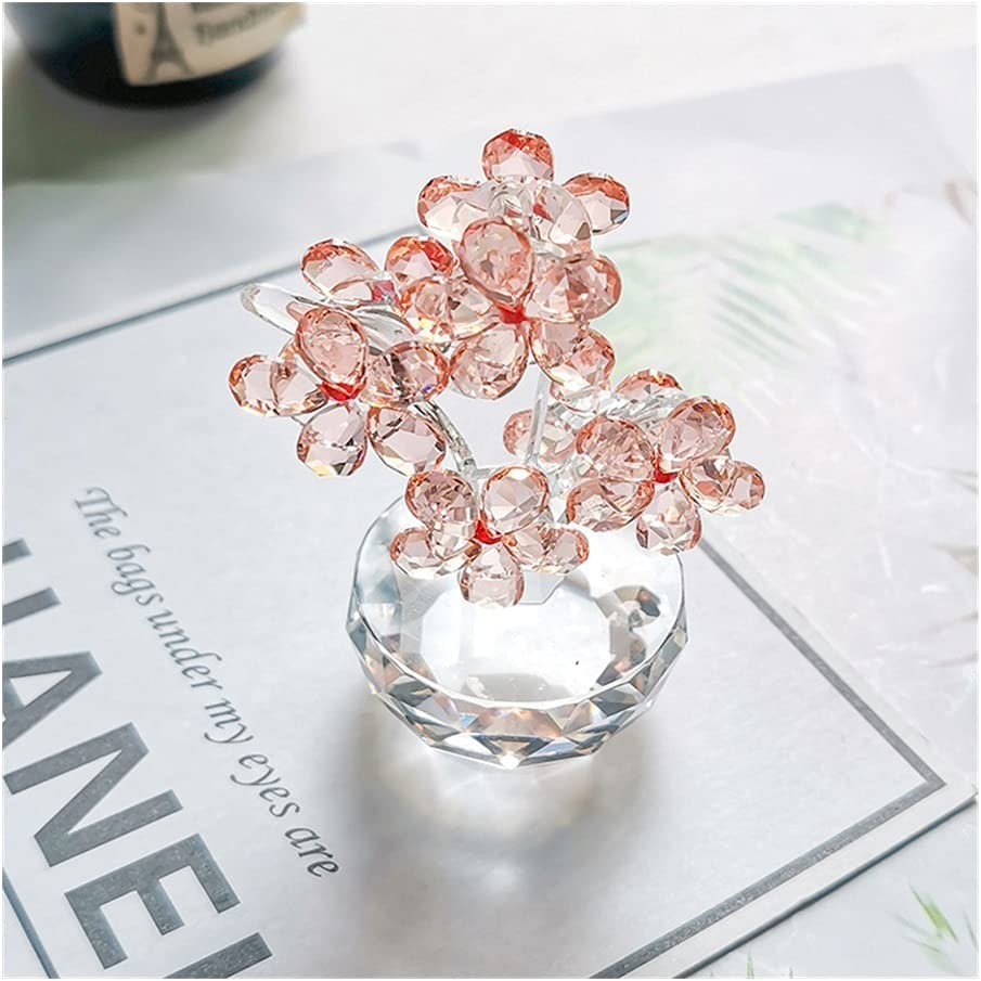 Collection K9 Crystal Plum specialty shop Glass Figurines Paperwe Flower Challenge the lowest price of Japan