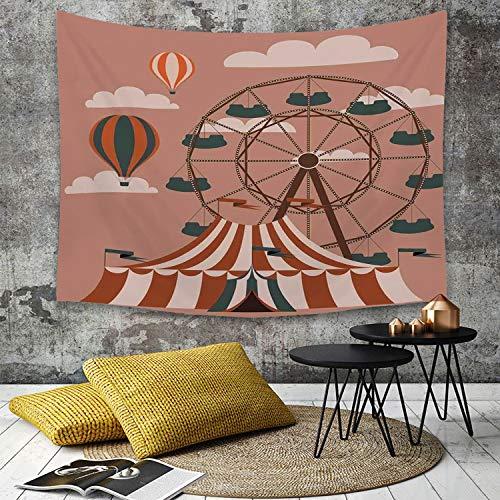 Toalla de Playa Redonda dise/ño de Mandala Color Blanco y Negro THE ART BOX algod/ón, 183 cm