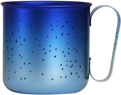 ホリエ チタンデザインマグカップ ボーダー&星 スター(ブルー) TMA-205B