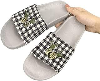 Surprise S Summer Beach Sandals Cute Pineapple Pattern Fabric Soft Bottom Flat Slides Home Flip Flops Casual Shoe