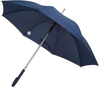 TAHARI Automatic Open Aluminum Shaft Rubberized Grip Handle Umbrella (Navy Blue)