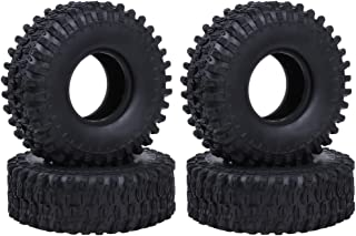Hobbypark RC Crawler Tires 1.9 Tires 4.7 Inch Outer Diameter Foam Inserts for Traxxas TRX-4 Axial SCX10 90047 All Terrain Tyres (4-Pack)