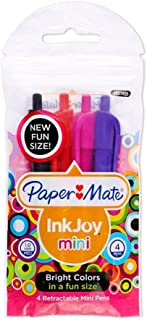 Paper Mate InkJoy 100 Mini Ballpoint Pen, Retractable, Assorted Colors, 4-Pack (1927825)