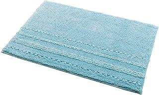 (セシール)cecile バスマット 肌触りの良い吸水バスマット(抗菌防臭) ソフトブルー 90*90 CQ-309 CQ-309