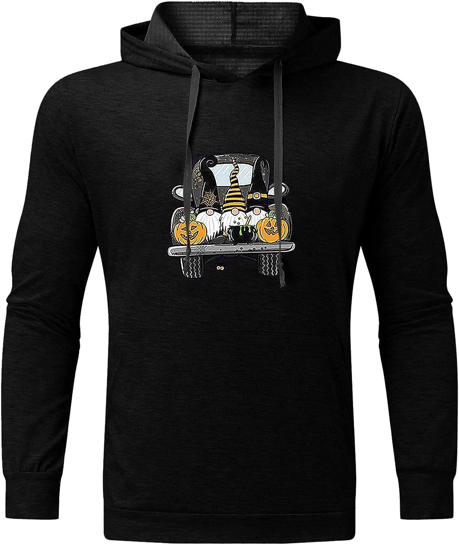 Men's Graphic Hoodie Hoohed Sweatshirt Lightweight Sportswear Pullover Top for Men