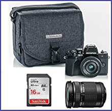 Olympus OM-D E-M10 Mark III (Mark 3) Mirrorless Digital Camera [Black] Body + M.Zuiko Digital ED 14-42mm f/3.5-5.6 EZ Lens (Black) + M.Zuiko Digital ED 40-150mm f/4.0-5.6 R Lens (Black)